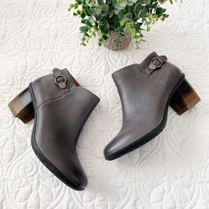 NEW Dansko Perry Bootie 38 Burnished Grey